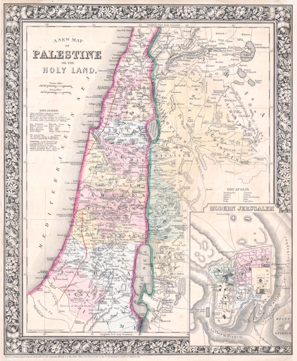 A New Map of Palestine or the Holy Land. - Main View