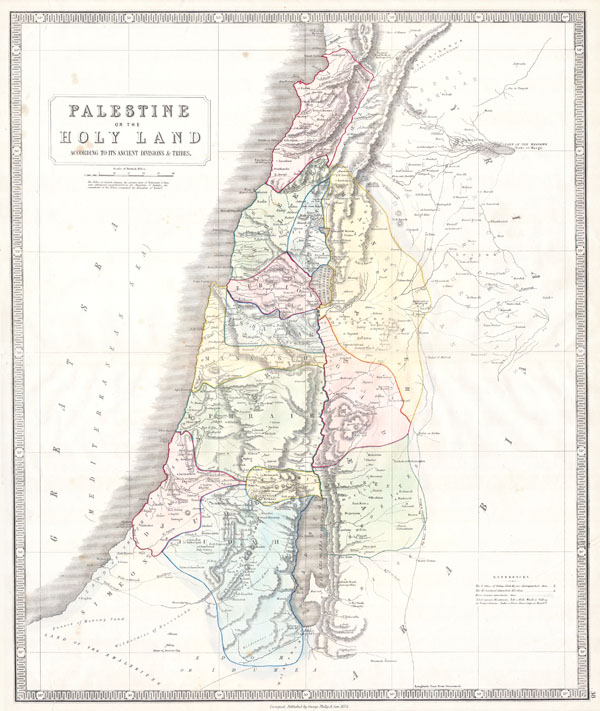 Palestine or the Holy Land According to its Ancient Divisions & Tribes.