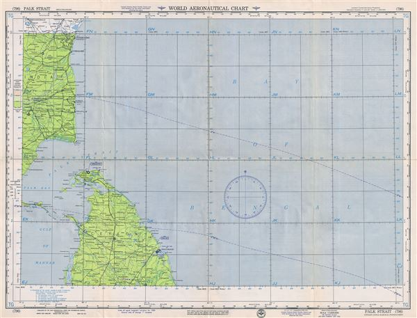 Palk Strait Ceylon-India-Karikal-Pondichery.