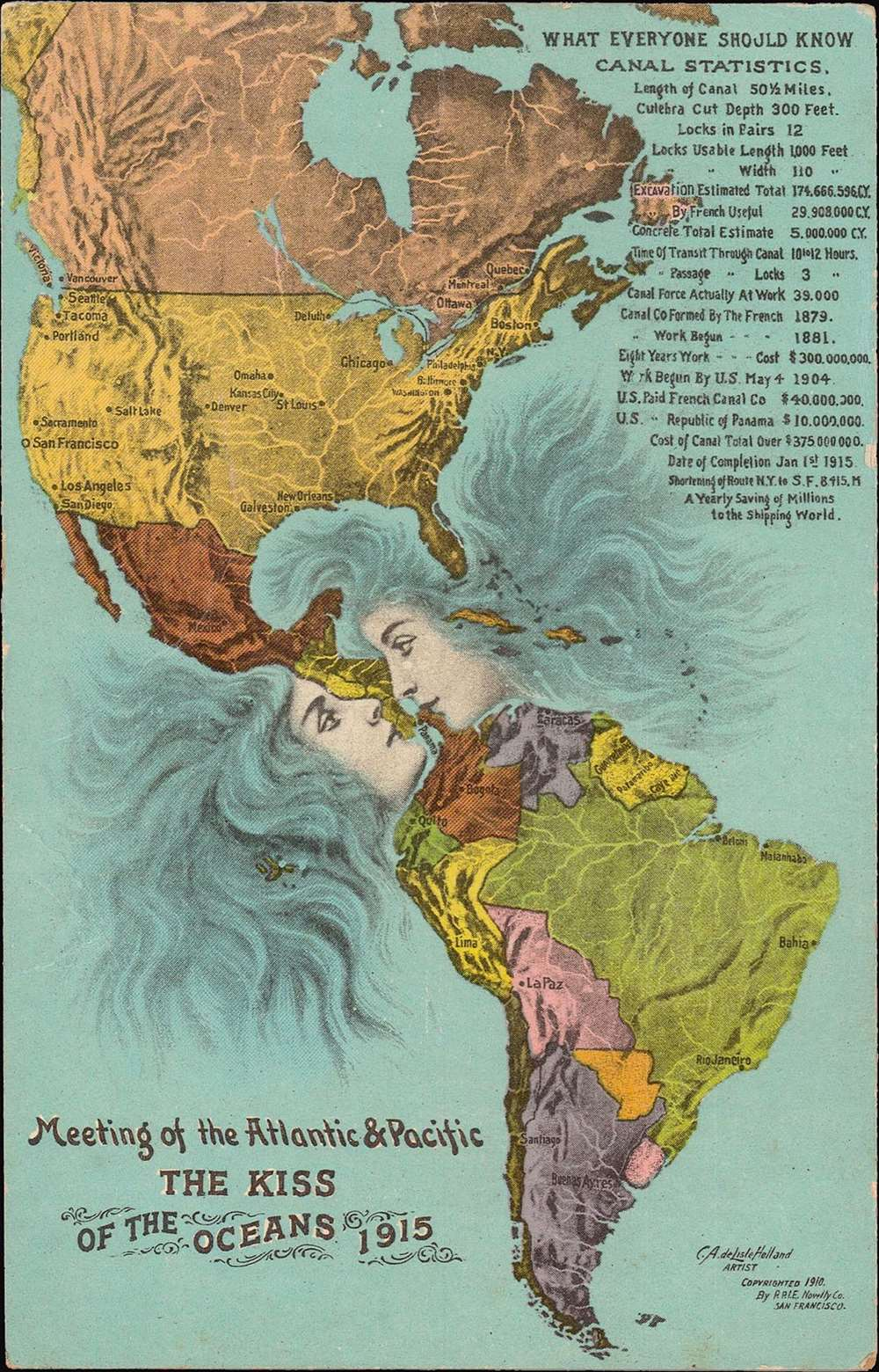 Meeting of the Atlantic and Pacific. 'The Kiss of the Oceans'.