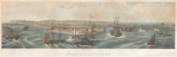 Panorama du Port et de la Ville du Hâvre.