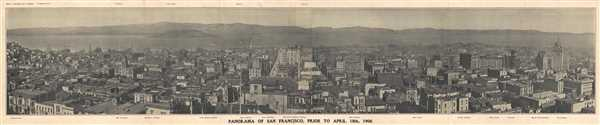 Panorama of San Francisco, Prior to April 18m 1906.
