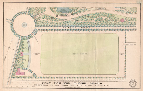Plan for the Parade Ground Proposed to be Laid out for Kings County L. I. - Main View