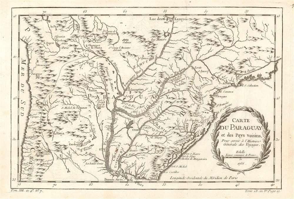 Carte du Paraguay et des pays voisins.