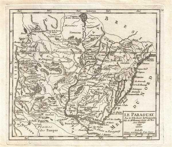 Le Paraguay. Par le Sr. Robert de Vaugondy, Fils de Mr. Robert Geog. du Roi.