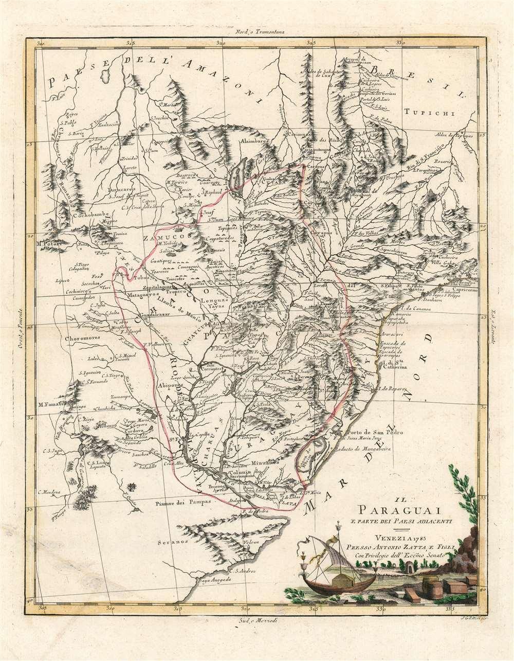 Il Paraguai E Parte Dei Paesi Adiacenti. - Main View