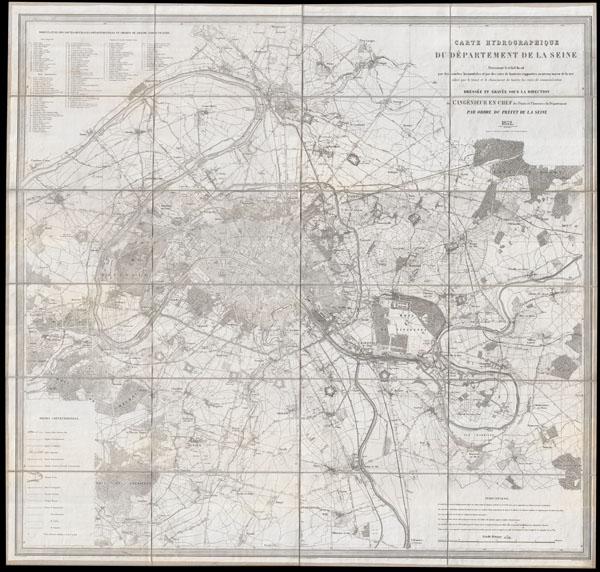 Carte Hydrographique du Departement de La Seine.