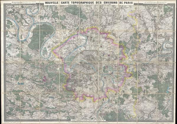 Nouvelle Carte Topographique des Environs de Paris.