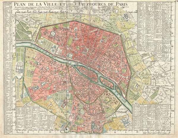 Plan de la Ville et Fauxbourgs de Paris.