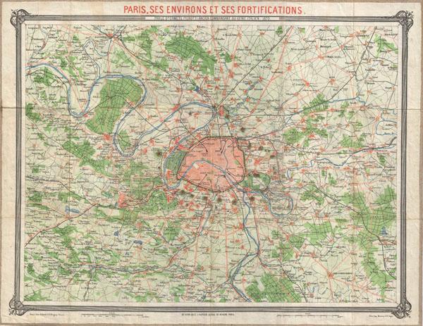 Paris, ses Environs et ses Fortifications. - Main View