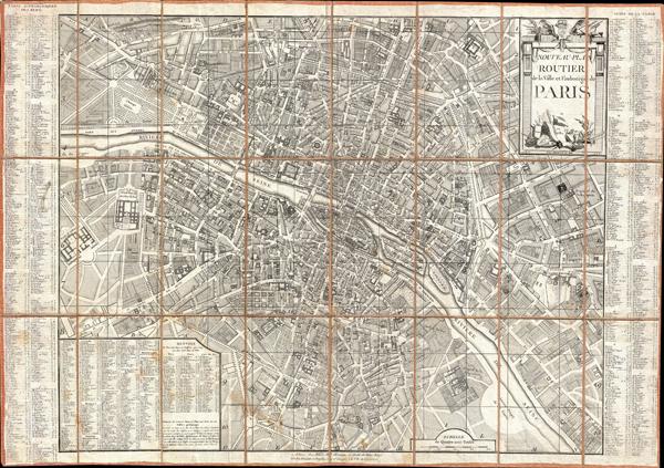 Nouveau Plan Routier de la Ville et Faubourgs de Paris – Plan De Paris Map