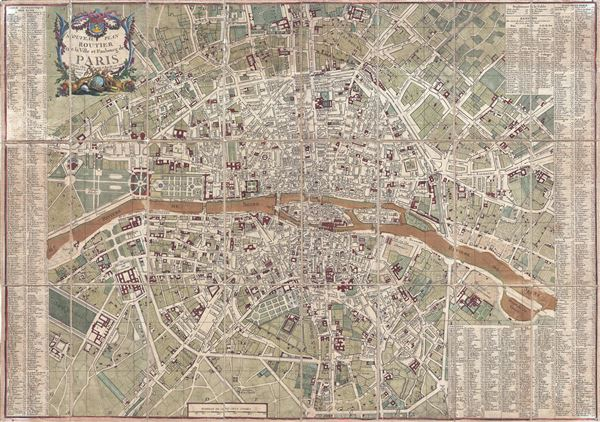 1782 esnauts and rapilly map of paris france