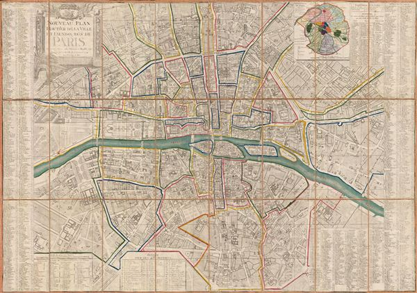 Nouveau Plan Routier de la Ville et Fauxbourgs de Paris. - Main View