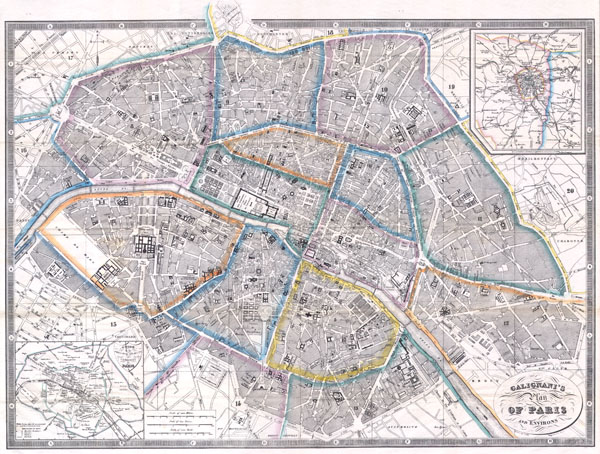 Galignani's Plan of Paris and Environs. - Main View