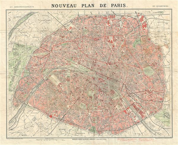 Nouveau Plan de Paris. - Main View