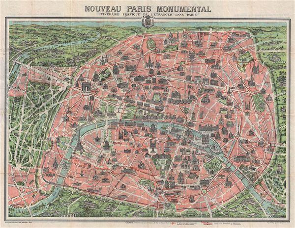 Nouveau Paris Monumental Inineraire Pratique de L'Etranger Dans Paris. - Main View
