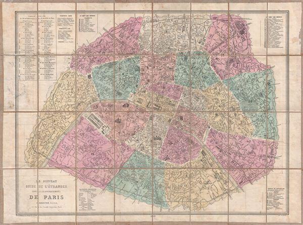 Le Nouveau Guide de l'Etranger Dans les 20 Arrondissements de Paris. - Main View