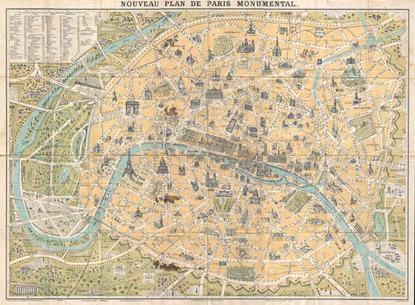 Nouveau Plan de Paris Monumental. - Main View