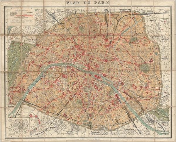plan de paris geographicus rare antique maps. Black Bedroom Furniture Sets. Home Design Ideas