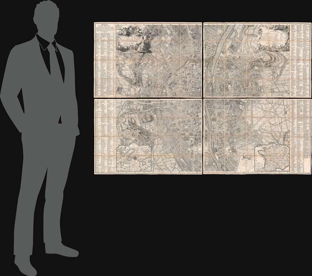 Plan de la Ville de Paris et de ses Faubourgs dédié au Roi. - Alternate View 1
