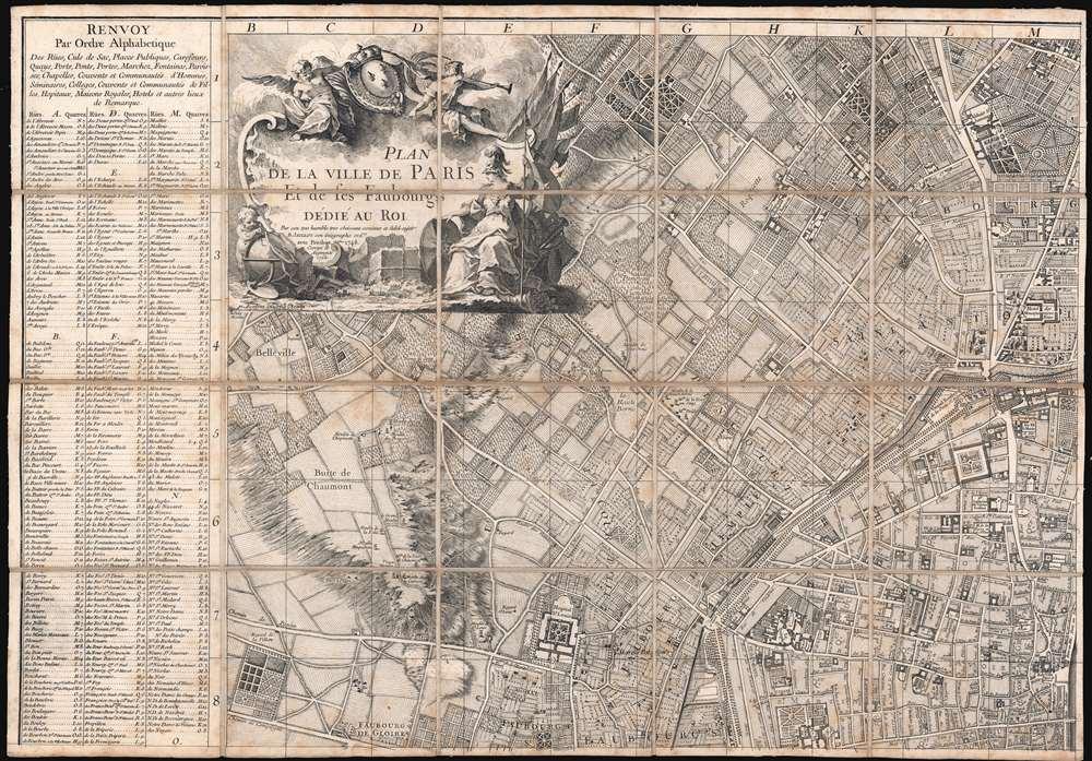Plan de la Ville de Paris et de ses Faubourgs dédié au Roi. - Alternate View 2