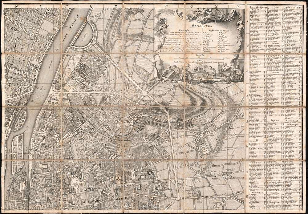 Plan de la Ville de Paris et de ses Faubourgs dédié au Roi. - Alternate View 3