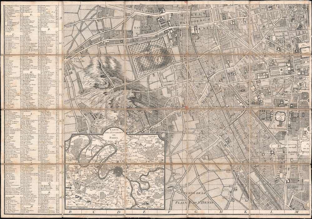 Plan de la Ville de Paris et de ses Faubourgs dédié au Roi. - Alternate View 4
