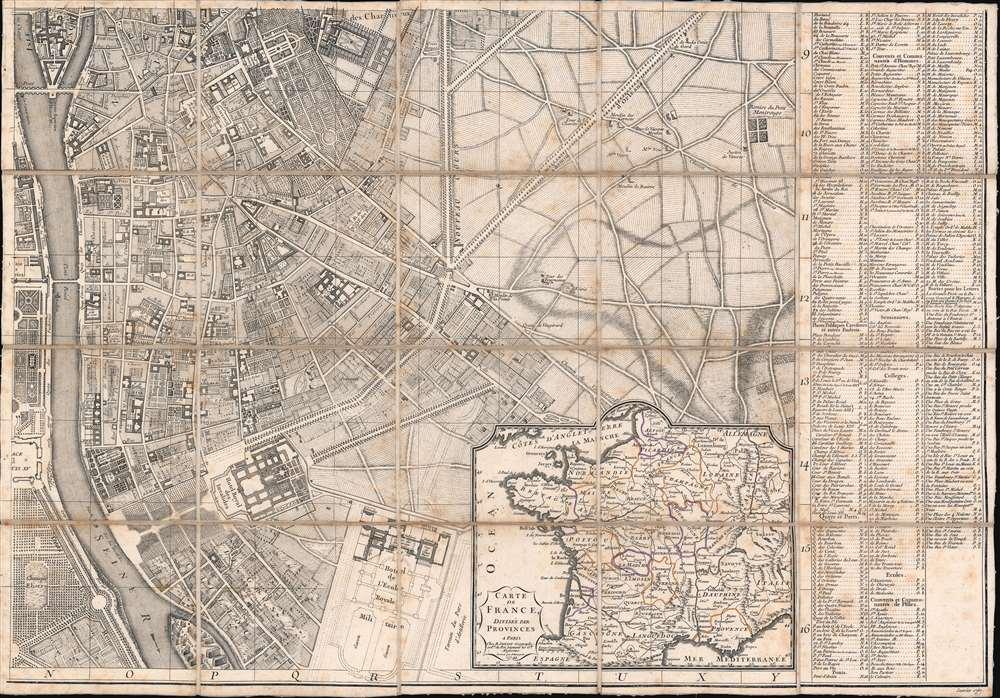 Plan de la Ville de Paris et de ses Faubourgs dédié au Roi. - Alternate View 5