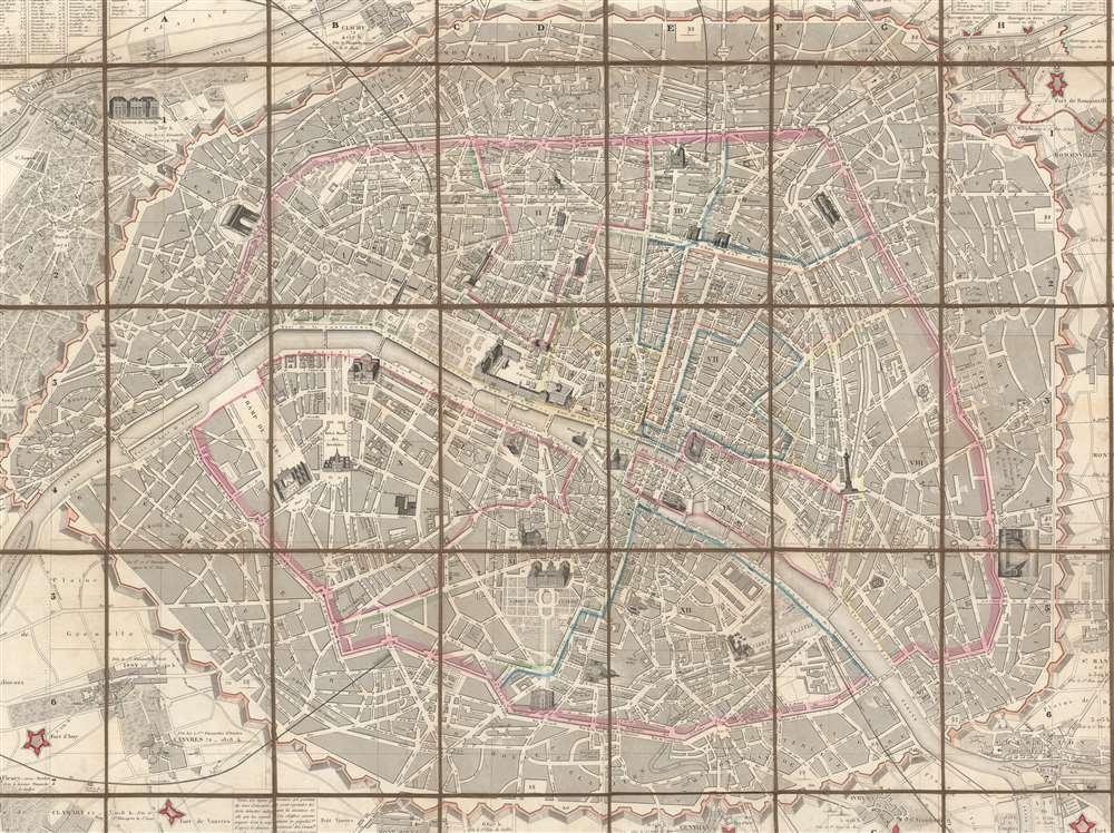 Plan de Paris et ses Fortifications. - Alternate View 3