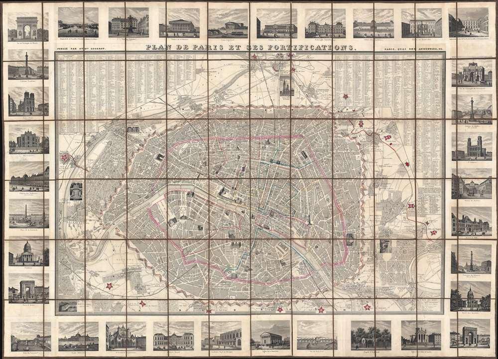 Plan de Paris et ses Fortifications. - Main View