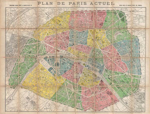 Plan de Paris Actuel 1890.