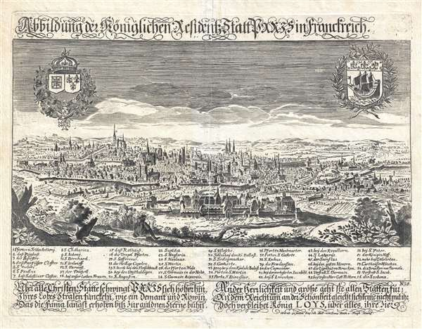 1650 Schnitzer View Map of Paris, France