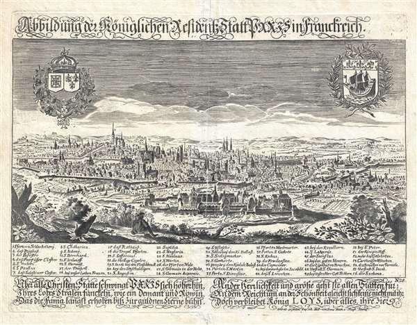 Abbildung de Königlichen Resident Statt Paris in Franchreich.