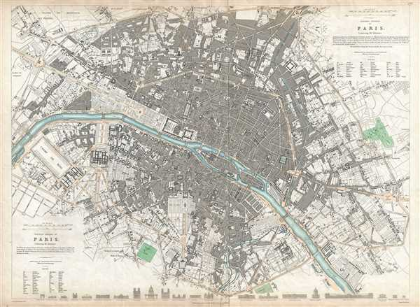 Western division of Paris. Eastern division of Paris.