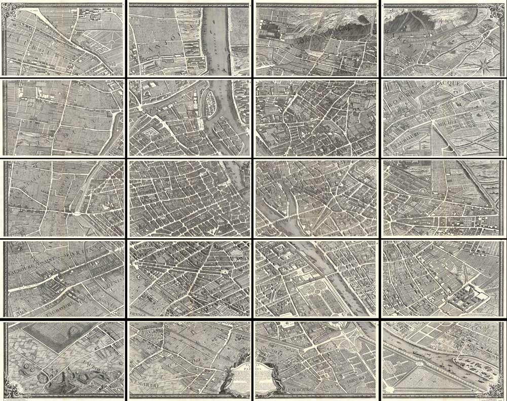 Plan de Paris. - Main View