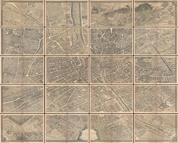 Plan de Paris Geographicus Rare Antique Maps – Plan De Paris Map