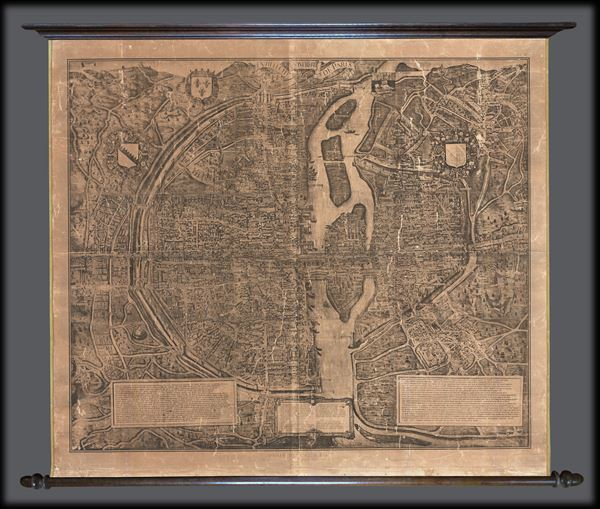 Paris De 1512-1547 de la Gran Gouache apres le plan Tapisserie. - Main View