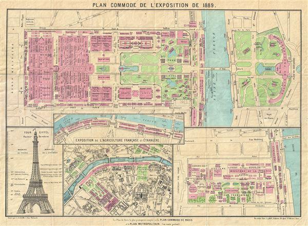 Plan Commode de L\'Exposition de 1889.: Geographicus Rare Antique Maps