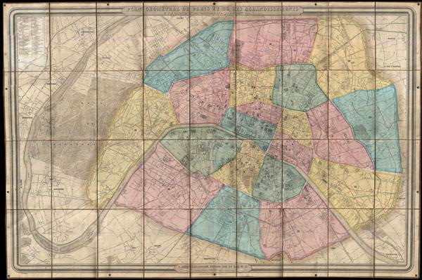 Plan Geometral de Paris et de Ses Agrandissements a l'Echelle d'un millimetre pour  10m. (1:10,000).