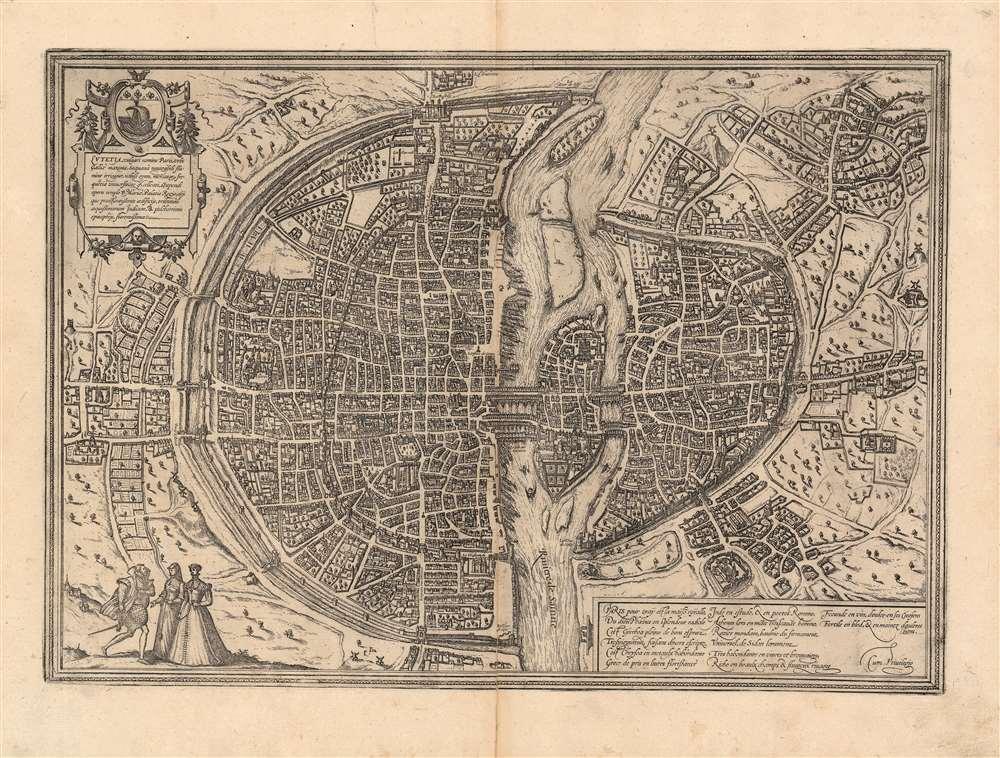 Lutetia vulgari Nomine Paris, Urbs Galliae Maxima, Sequana Navigabili Flumine Irrigatur... - Main View