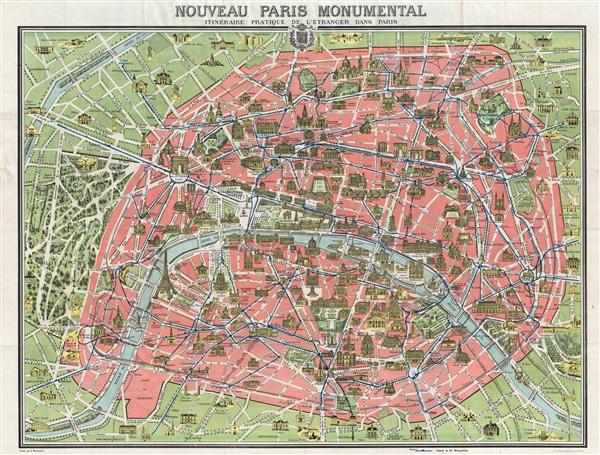 Nouveau Paris Monumental Inineraire Pratique de L'Etranger Dans Paris.