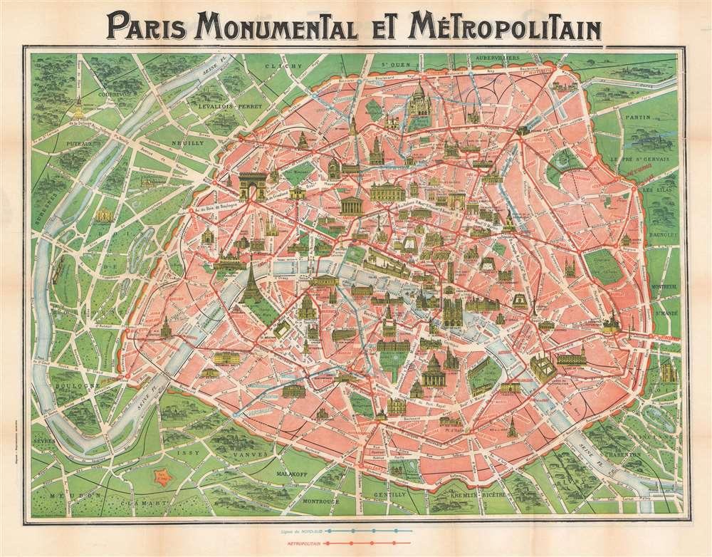 Paris Monumental et Métropolitain. - Main View