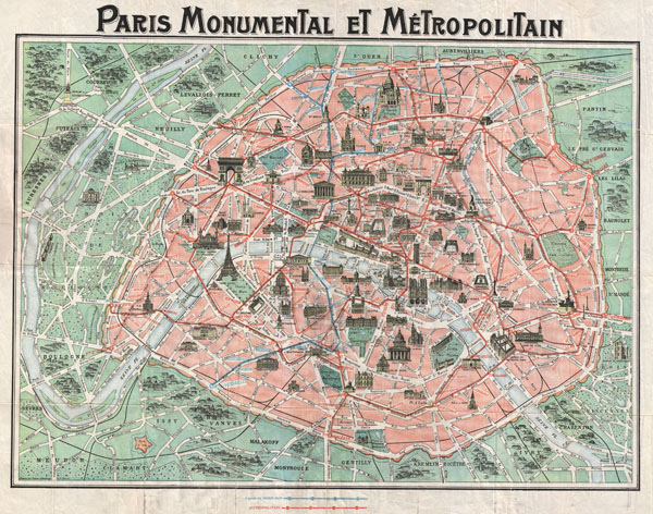 Paris Monumental et Metropolitain. - Main View