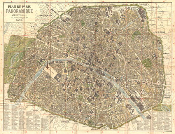 Plan de Paris Panoramique.
