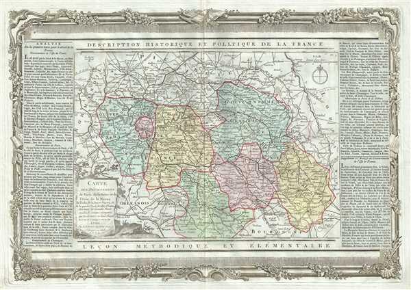 Carte des Departemens de Paris, de la Seine et de l'Oise de la Marne de l'Aube, de la Haute Marne, et de la partie Nord de celui d'Yonne. - Main View