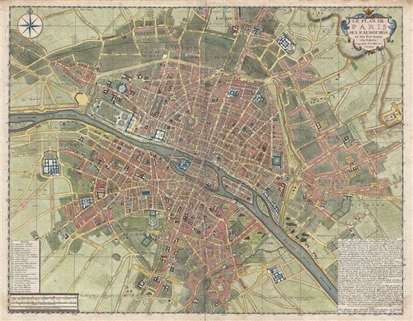 Le Plan de Paris ses Faubourgs et ses Environs.