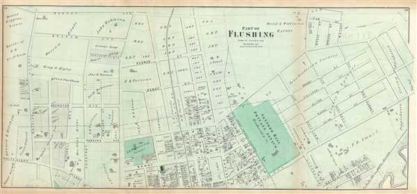 Part of Flushing. Town of Flushing, Queens Co.
