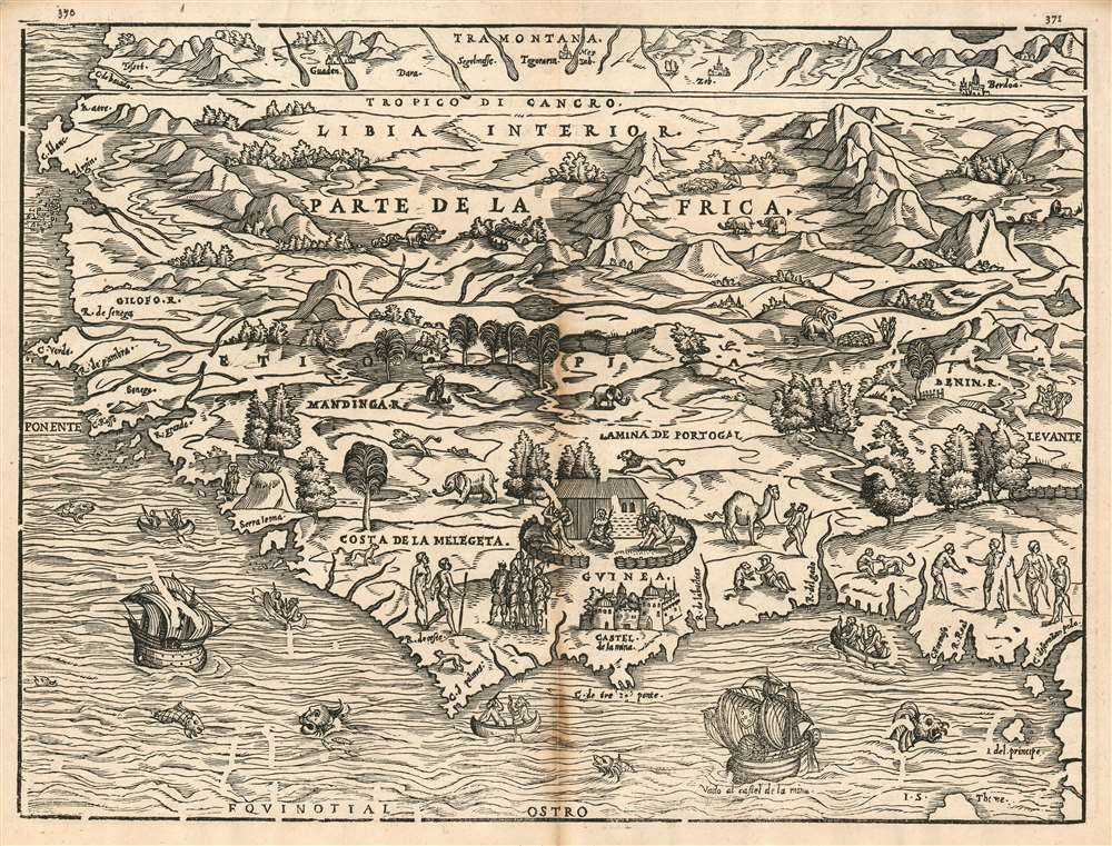 1606 Ramusio Map of Western Africa