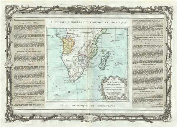 Partie De L'Afrique audela de l'Equateur, Comprenant Le Congo, La Cafrerie etc. - Main View