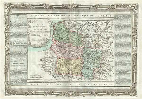 Carte des Departemens du Pas de Calais, de la Somme, de l'Oise et de l'Aisne.